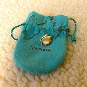 tiffany & co butterfly necklace with 18k gold